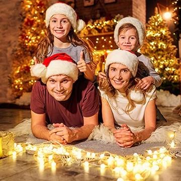 Kugel Lichterkette, WOWDSGN 200 LEDs Lichterkette 20m Dimmbar, Partylichterkette mit Stecker für Innen und Außen, 8 Leuchtmode, strombetrieben, ideal für Weihnachten, Hochzeit, Party, Garten, Warmweiß - 6