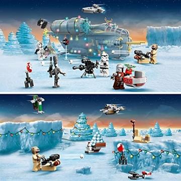 LEGO 75307 Star Wars Adventskalender 2021 Bausatz Mandalorianer Kinder ab 6 mit Baby Yoda Minifigur - 3