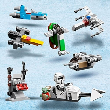 LEGO 75307 Star Wars Adventskalender 2021 Bausatz Mandalorianer Kinder ab 6 mit Baby Yoda Minifigur - 4