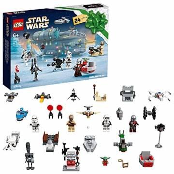 LEGO 75307 Star Wars Adventskalender 2021 Bausatz Mandalorianer Kinder ab 6 mit Baby Yoda Minifigur - 1