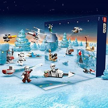 LEGO 75307 Star Wars Adventskalender 2021 Bausatz Mandalorianer Kinder ab 6 mit Baby Yoda Minifigur - 5