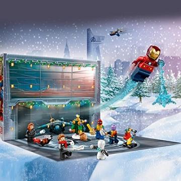LEGO 76196 Marvel Avengers Adventskalender 2021 Spielzeugset aus Bausteinen mit Spider-Man und Iron Man für Kinder ab 7 Jahren Weihnachtsgeschenkideen - 5
