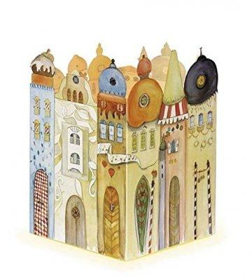 Leuchtendes Städtchen - Adventskalender: Schöner Kalender zum Aufstellen und beleuchten von Innen. 38 x 27 cm.: Adventskalender zum Aufstellen - 1