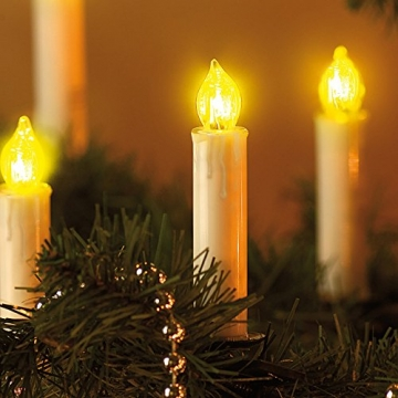 Lunartec LED Lichterkette Baum: LED-Weihnachtsbaum-Lichterkette mit 20 Kerzen, 3 Watt (Christbaum Lichterkette LED) - 4