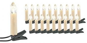 Lunartec Lichterkette Weihnachten: 2er-Set LED-Weihnachtsbaum-Lichterketten, je 20 LED-Kerzen, IP44 (Christbaum-Kerzen) - 3