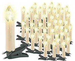 Lunartec Lichterkette Weihnachten: 2er-Set LED-Weihnachtsbaum-Lichterketten, je 20 LED-Kerzen, IP44 (Christbaum-Kerzen) - 1