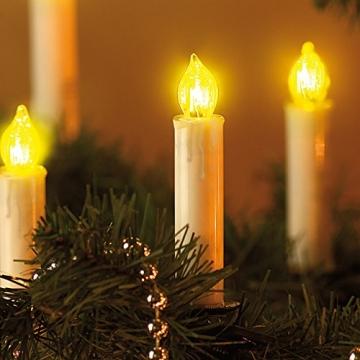 Lunartec Lichterkette Weihnachten: 2er-Set LED-Weihnachtsbaum-Lichterketten, je 20 LED-Kerzen, IP44 (Christbaum-Kerzen) - 5