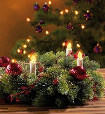 Lunartec Lichterkette Weihnachten: 2er-Set LED-Weihnachtsbaum-Lichterketten, je 20 LED-Kerzen, IP44 (Christbaum-Kerzen) - 6