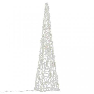Nipach LED Pyramide Lichterkegel – Beleuchtung für Weihnachten innen außen – Acryl-Figur Batterie & Timer – 30 Leuchten warm weiß 60 cm hoch - 1