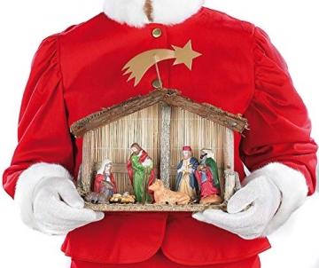 PEARL Weihnachtskrippe: Weihnachts-Krippe (10-teilig) mit handbemalten Porzellan-Figuren (Weihnachtskrippen Figuren) - 4