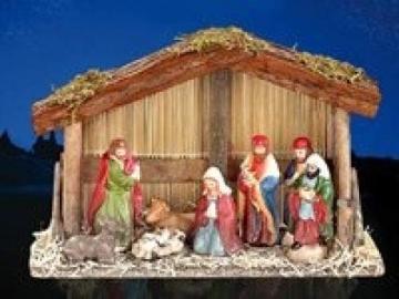 PEARL Weihnachtskrippe: Weihnachts-Krippe (10-teilig) mit handbemalten Porzellan-Figuren (Weihnachtskrippen Figuren) - 6