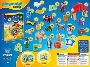 PLAYMOBIL Adventskalender 70259 Weihnachtskrippe, Für Kinder ab 1,5 Jahren - 3