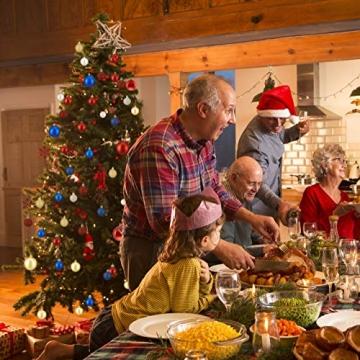 Relaxdays Weihnachtskugeln, 100er Set, Weihnachtsdeko, matt, glänzend, glitzernd, Christbaumkugel ∅ 3, 4 & 6 cm, rot, PS, 7 x 6 x 6 cm - 3