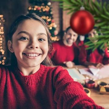 Relaxdays Weihnachtskugeln, 100er Set, Weihnachtsdeko, matt, glänzend, glitzernd, Christbaumkugel ∅ 3, 4 & 6 cm, rot, PS, 7 x 6 x 6 cm - 5