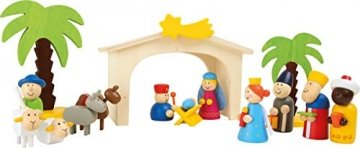 small foot 3945 Holzkrippe Spielset, bunt - 1