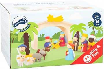 small foot 3945 Holzkrippe Spielset, bunt - 2