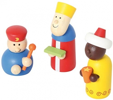 small foot 3945 Holzkrippe Spielset, bunt - 4