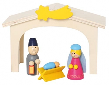 small foot 3945 Holzkrippe Spielset, bunt - 6