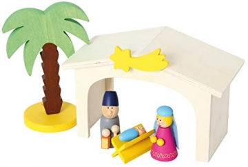 small foot 3945 Holzkrippe Spielset, bunt - 7