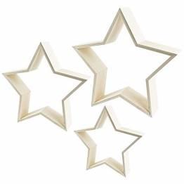 Sterne | Holzrahmen | In drei verschiedenen Größen | 3 Stück - 1