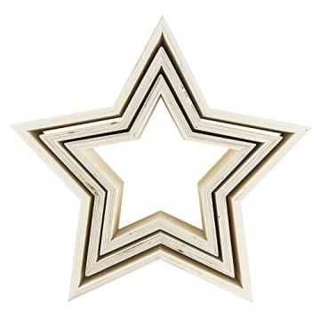 Sterne | Holzrahmen | In drei verschiedenen Größen | 3 Stück - 2