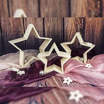 Sterne | Holzrahmen | In drei verschiedenen Größen | 3 Stück - 3