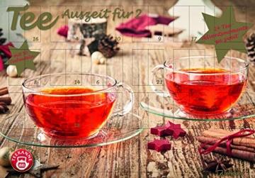 Tee-Adventskalender für Zwei 2021 - Teekalender - Adventskalender - Teesorten - Genusskalender - Advent-für-Zwei - 55,5 x 39 x 2 cm - 2