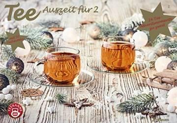 Tee-Adventskalender für Zwei 2021 - Teekalender - Adventskalender - Teesorten - Genusskalender - Advent-für-Zwei - 55,5 x 39 x 2 cm - 1
