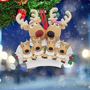 TianWlio Weihnachten Elch Schneemann Weihnachtsbaum Anhänger,Personalisierte DIY Familie Name Weihnachtsschmuck Kit Weihnachtsbaum Anhänger - 3