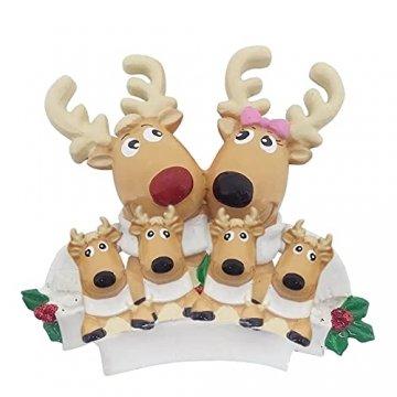 TianWlio Weihnachten Elch Schneemann Weihnachtsbaum Anhänger,Personalisierte DIY Familie Name Weihnachtsschmuck Kit Weihnachtsbaum Anhänger - 1