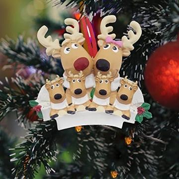 TianWlio Weihnachten Elch Schneemann Weihnachtsbaum Anhänger,Personalisierte DIY Familie Name Weihnachtsschmuck Kit Weihnachtsbaum Anhänger - 6
