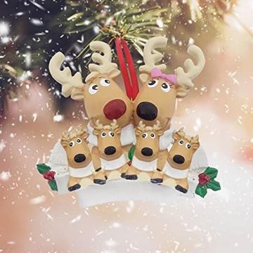 TianWlio Weihnachten Elch Schneemann Weihnachtsbaum Anhänger,Personalisierte DIY Familie Name Weihnachtsschmuck Kit Weihnachtsbaum Anhänger - 7