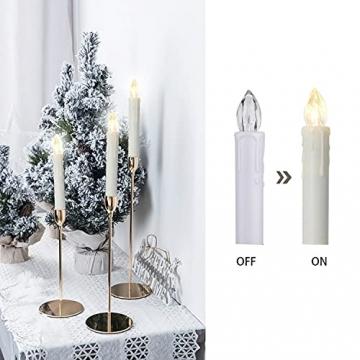 VASEN LED Christbaumkerzen Kabellos mit Fernbedienung Warmweiß Weihnachtsbaumkerzen Flammenlos Weihnachtskerzen 40er [Energieklasse A++] - 4
