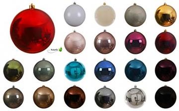 Weihnachstkugeln Christbaumkugeln Baumkugeln rot glänzend bruchfest 200 mm Durchmesser - 2