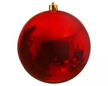 Weihnachstkugeln Christbaumkugeln Baumkugeln rot glänzend bruchfest 200 mm Durchmesser - 1