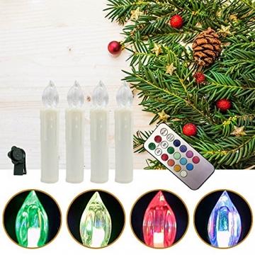 Weihnachtskerzen LED mit Fernbedienung 30 Stück Kabellos Kerzen für Weihnachtsbaum Weihnachtsdeko Hochzeitsdeko Geburtstags Party (30 Stück) - 3