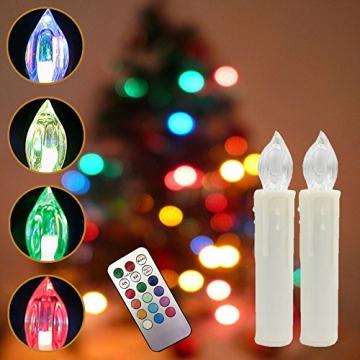 Weihnachtskerzen LED mit Fernbedienung 30 Stück Kabellos Kerzen für Weihnachtsbaum Weihnachtsdeko Hochzeitsdeko Geburtstags Party (30 Stück) - 5
