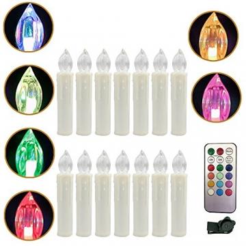 Weihnachtskerzen LED mit Fernbedienung 30 Stück Kabellos Kerzen für Weihnachtsbaum Weihnachtsdeko Hochzeitsdeko Geburtstags Party (30 Stück) - 6