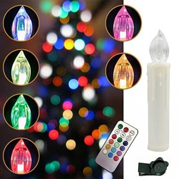 Weihnachtskerzen LED mit Fernbedienung 30 Stück Kabellos Kerzen für Weihnachtsbaum Weihnachtsdeko Hochzeitsdeko Geburtstags Party (30 Stück) - 7