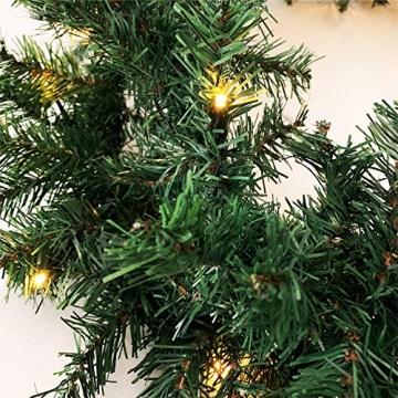 XXL Weihnachtsbeleuchtung Girlande beleuchtet Tannengirlande 100 LED Lichterkette 810 cm Weihnachten innen und außen - 3