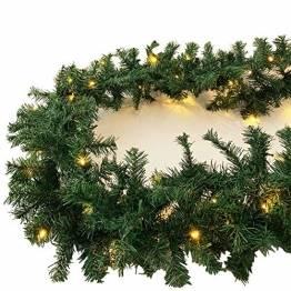 XXL Weihnachtsbeleuchtung Girlande beleuchtet Tannengirlande 100 LED Lichterkette 810 cm Weihnachten innen und außen - 1