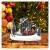 YEJIE Miniaturmodell Kreative Farbe LED Beleuchtung Weihnachten small Train Village Haus leuchtende Landschaft Schnee Figuren Harz Desktop Ornament Dekorationsverzierungen - 4