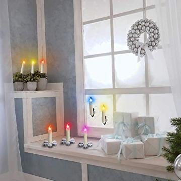 ZIYOUDOLI 20er RGB LED Kerzen Weihnachtskerzen IP64 wasserdicht , Dimmbar mit Fernbedienung und Timerfunktion,als Dekoration für Weihnachten,Weihnachtsbaum, Weinachten LED Kerzen Lichterkette - 4