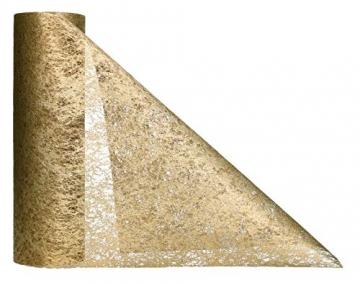 AmaCasa Vlies Tischläufer 30cm/25 Meter Tischband Hochzeit Kommunion (30cm, Gold) - 2