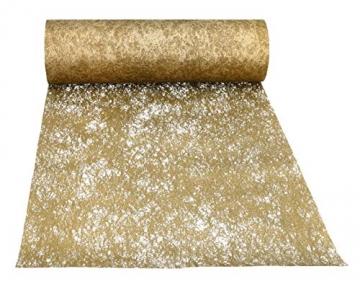 AmaCasa Vlies Tischläufer 30cm/25 Meter Tischband Hochzeit Kommunion (30cm, Gold) - 5