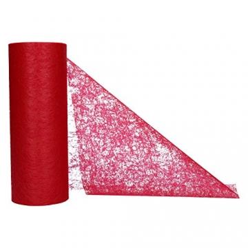 AmaCasa Vlies Tischläufer Bordeaux Rot 23cm/25 Meter Flower Vlies Tischband Hochzeit Kommunion - 2