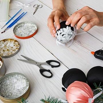 BELLE VOUS Weiße Styropor Kugeln zum Basteln in 6 Größen (88er Pack) - Styropor Kugel Bälle zum Basteln Kunst, Party und Weihnacht Dekoration, Projekte & Haushalt Kugeln Styropor - 5