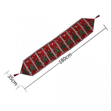 Blanketswarm Tischläufer, Weihnachts-Tischwäsche, Weihnachtsmann, Elch, Tischdecke, Tischdecke für Familienessen, Party, Zuhause, Urlaub, Dekoration, 35 x 180 cm - 7