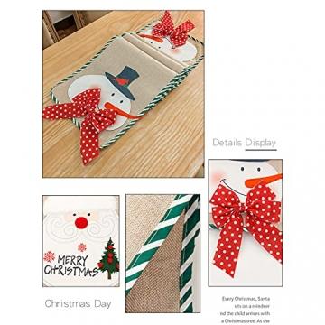 BWLIZIYEZI Weihnachtstischläufer, 182 cm, Weihnachts-Tischwäsche für Familie, Weihnachten, Urlaub, Tisch, Heim-Party-Dekoration - 3