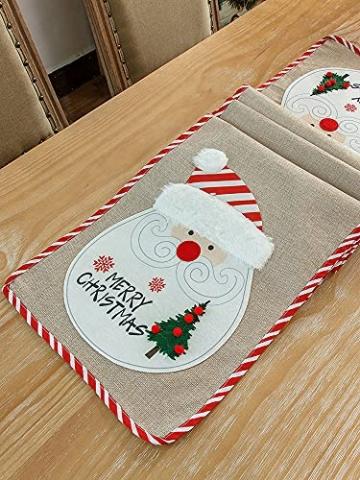 BWLIZIYEZI Weihnachtstischläufer, 182 cm, Weihnachts-Tischwäsche für Familie, Weihnachten, Urlaub, Tisch, Heim-Party-Dekoration - 4